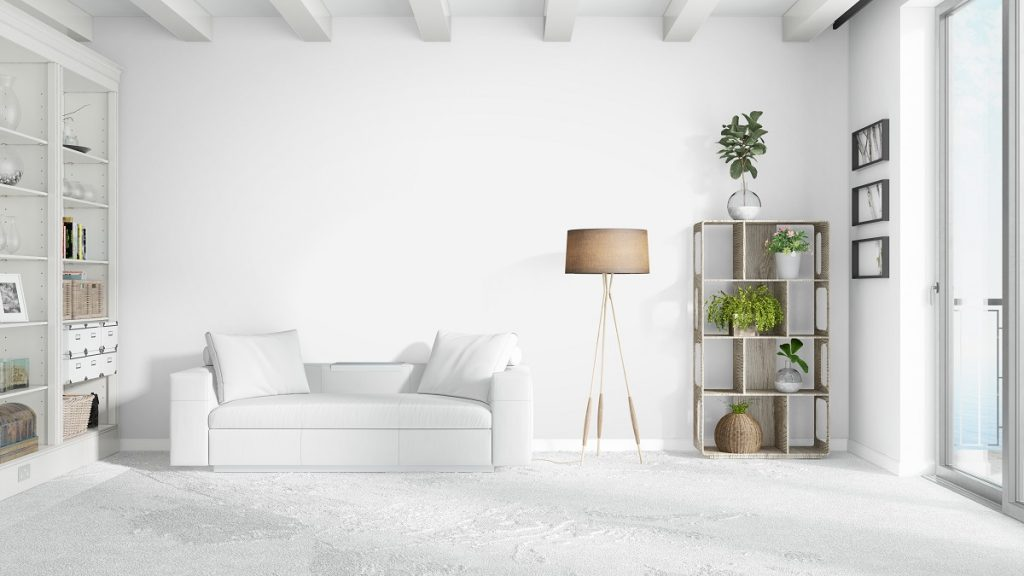 White sofa in a white apartment