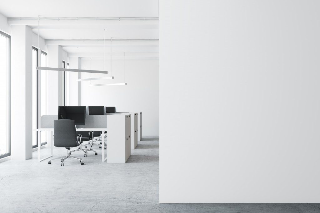 Minimalist modern office space