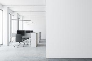 Minimalist modern office space
