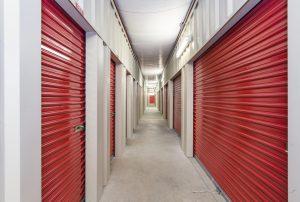 Garage doors in a warehouse