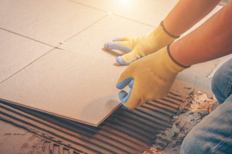 placing tiles