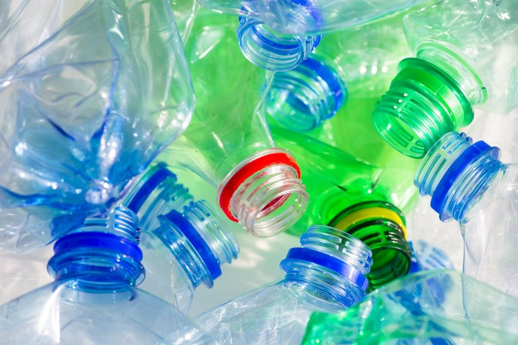 recycling bottles and plastics