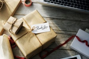 personalized wrapped gift