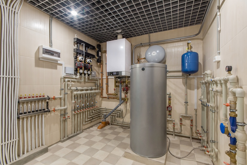 a storage tank room