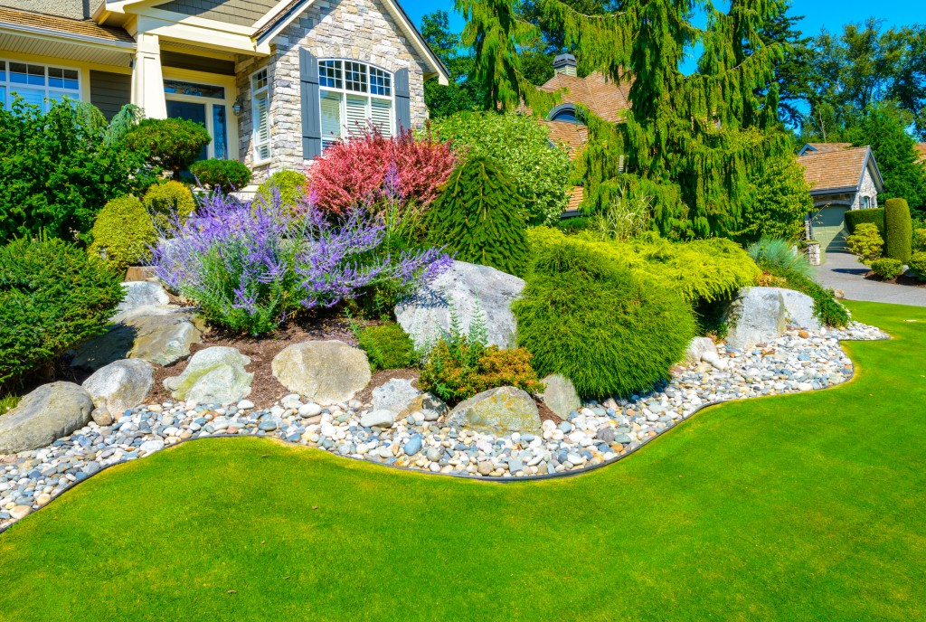 Landscaped front yard