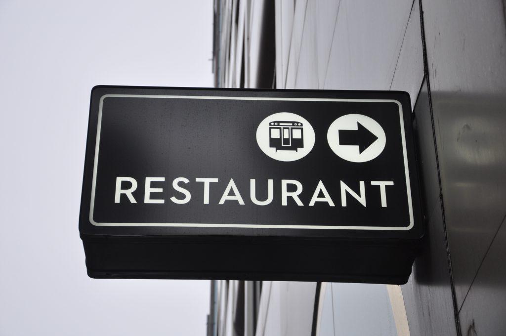 Outdoor restaurant sign