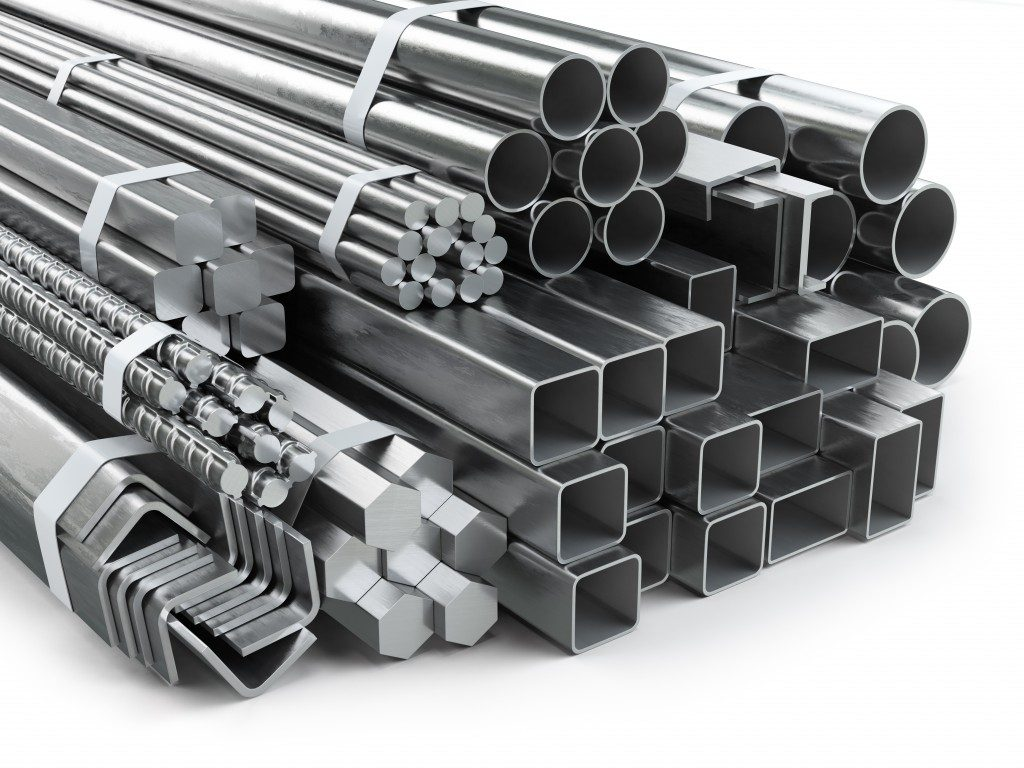 Stacked stainless metal products