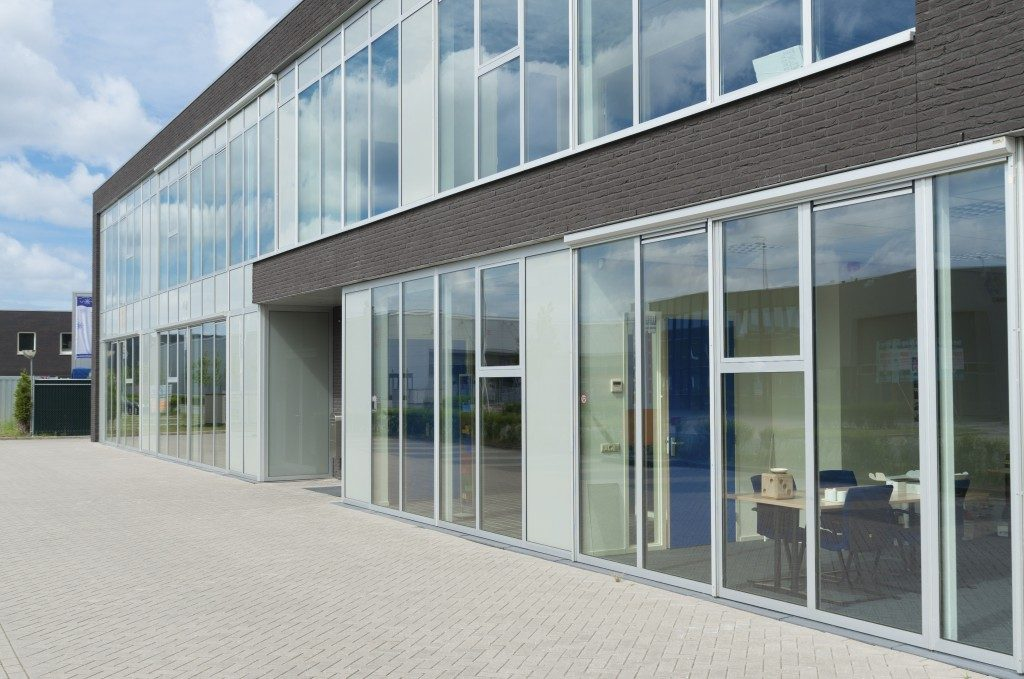 Exterior of a modern building