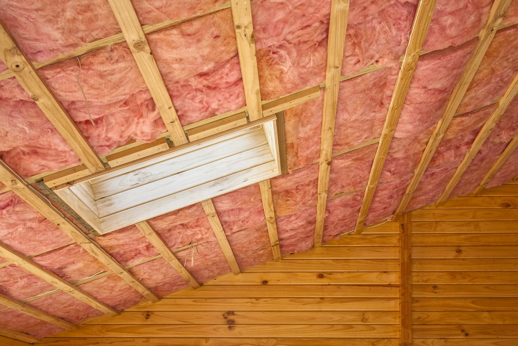 Insulation installed in attic roof