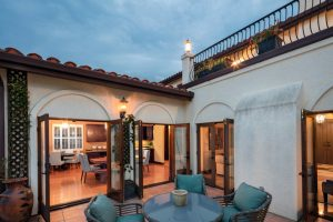 home patio and open french doors