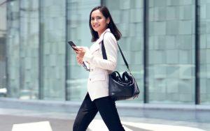 career woman walking