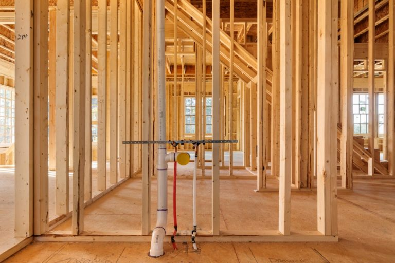 Plumbing construction for home