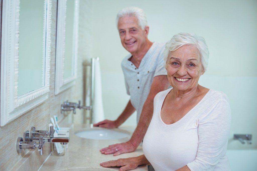 elderly at the bathroom
