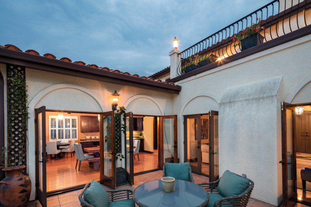 patio of a traditional home