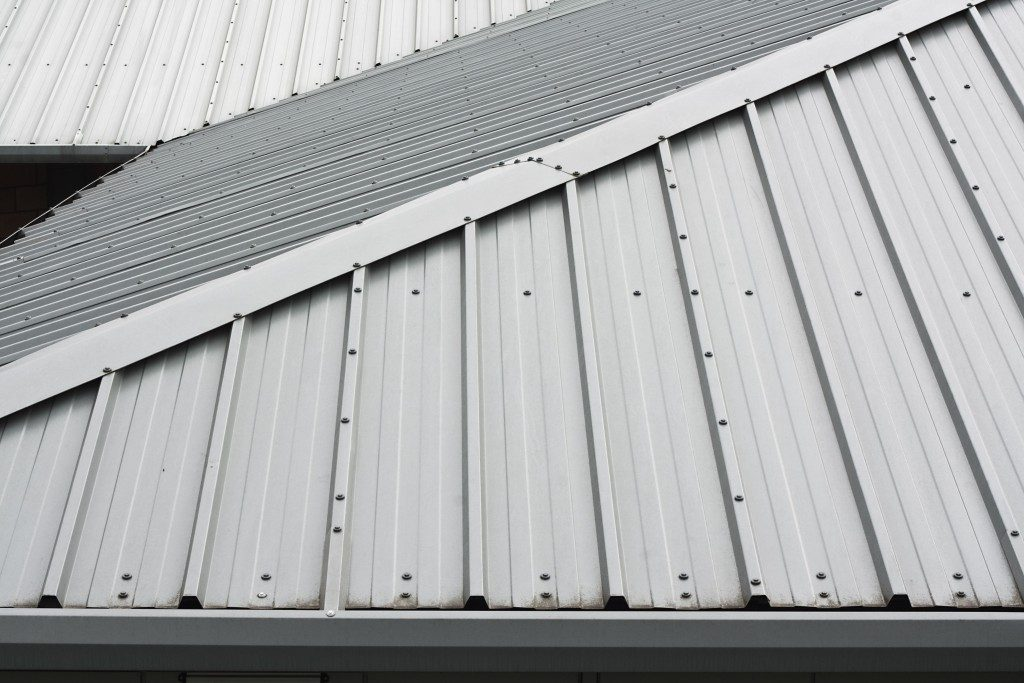 metal roofing on a building