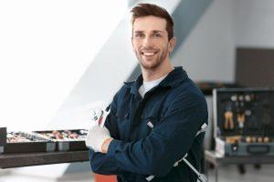 man repairing