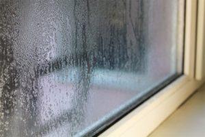 Moisture on the window