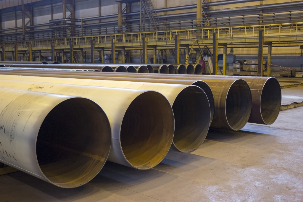 Huge metal pipes