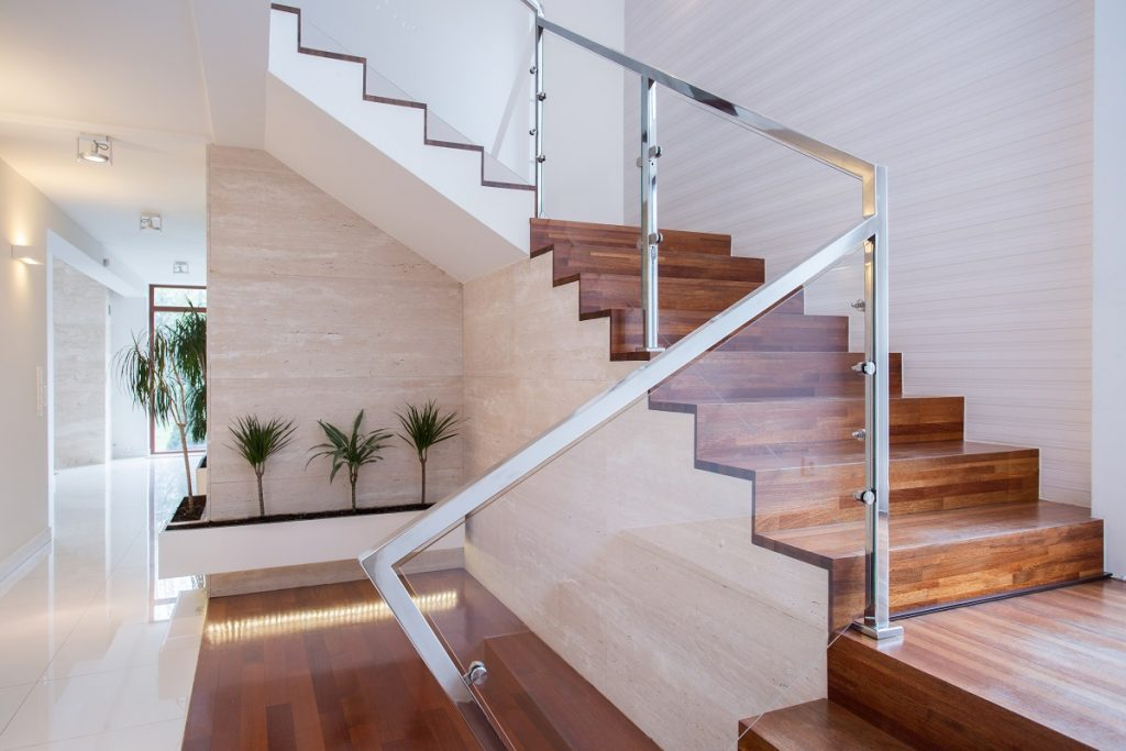 Staircase inside modern home