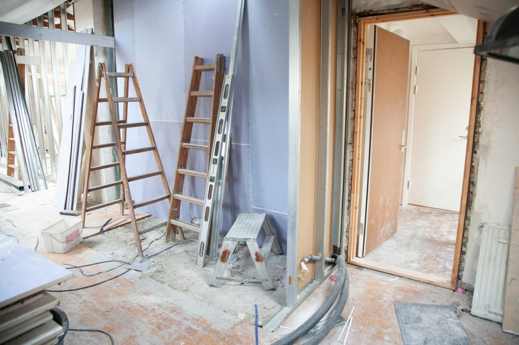 house undergoing renovation