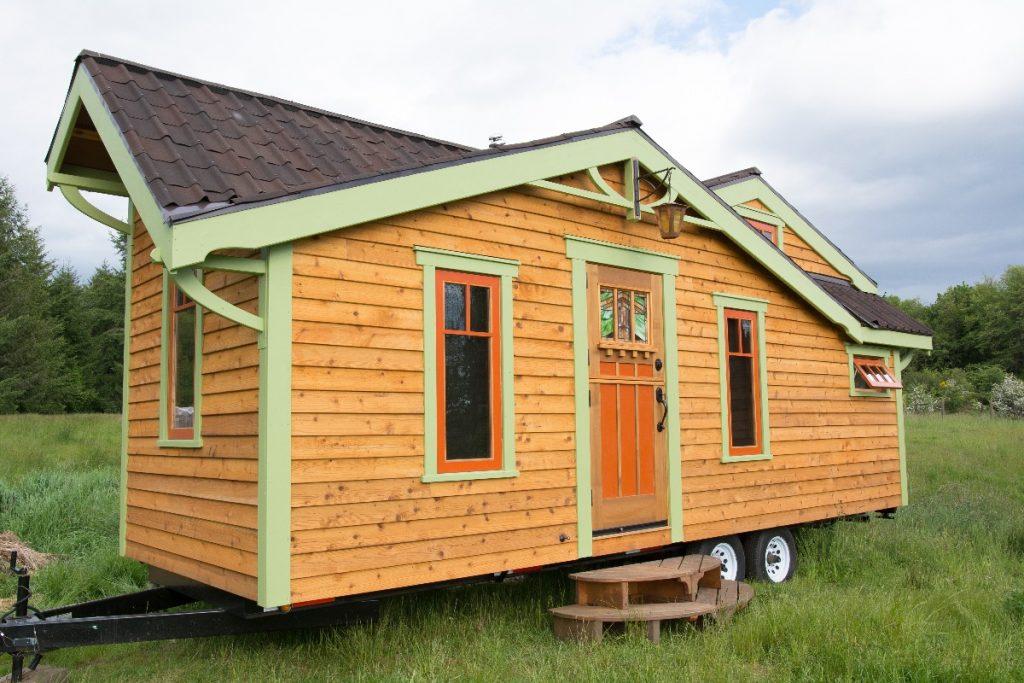 orange tiny house