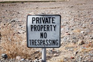 private property signage
